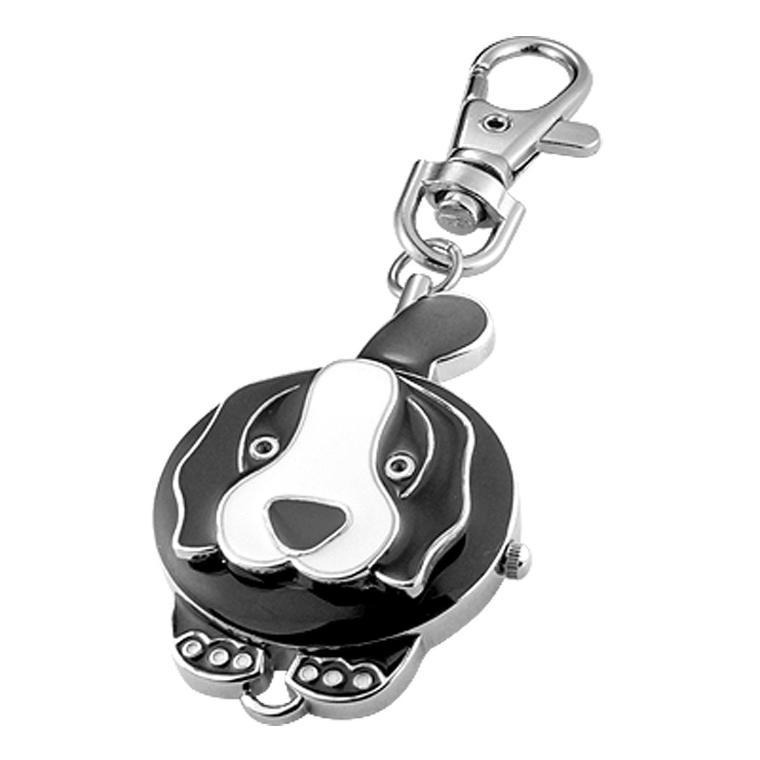 Dog & Round Watchcase Pendant Keychain Keyring Watch