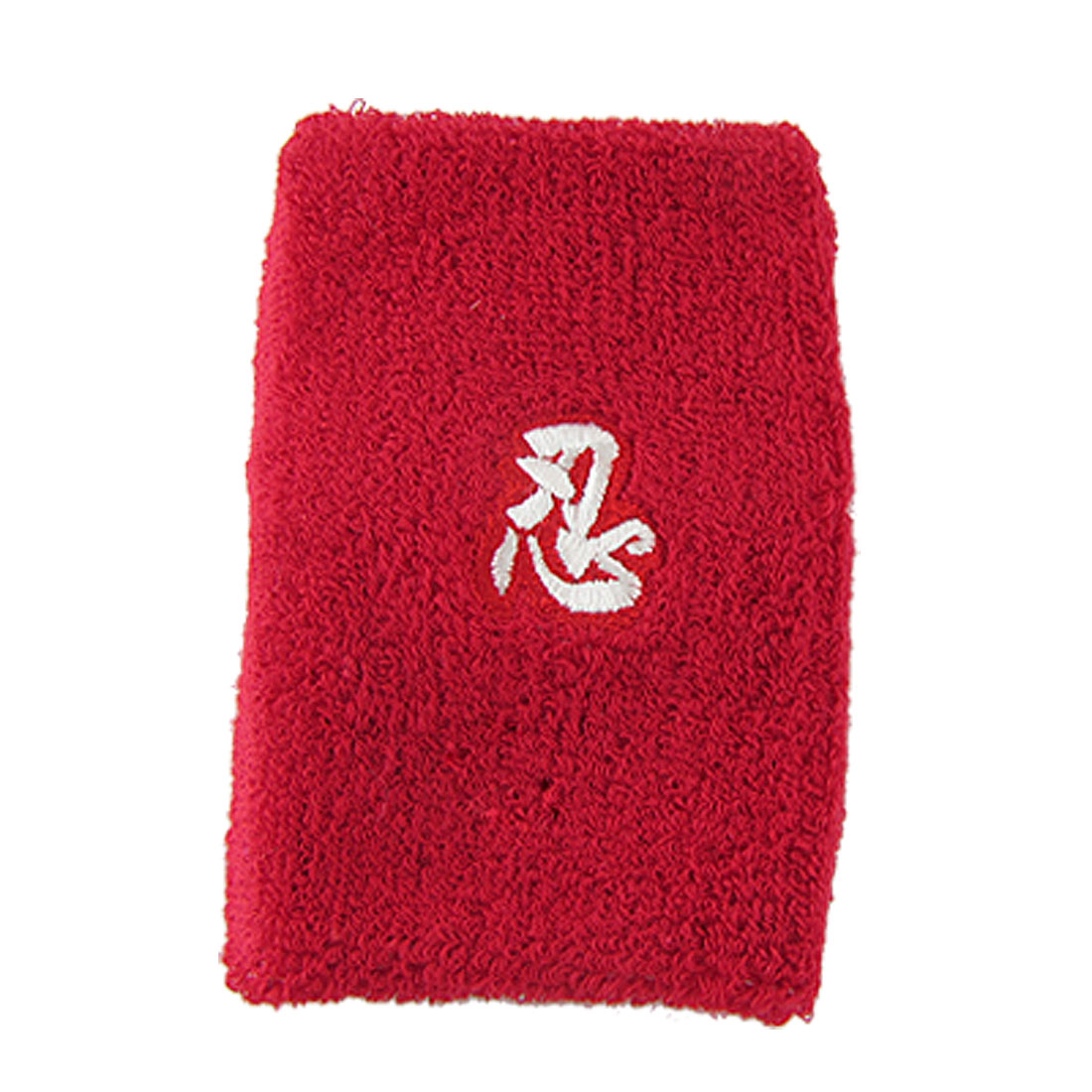 Red Cotton Elastic Sports Tennis Wristband