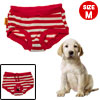 Size M Diaper Female Dog Sanitary Stripes Pant Pet CLothes Red White