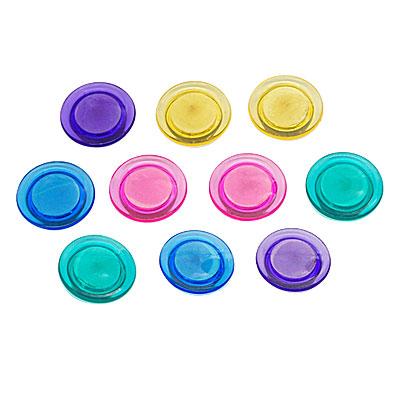 Round Multicolor Plastic Refrigerator Fridge Magnet Holder 10 Pcs