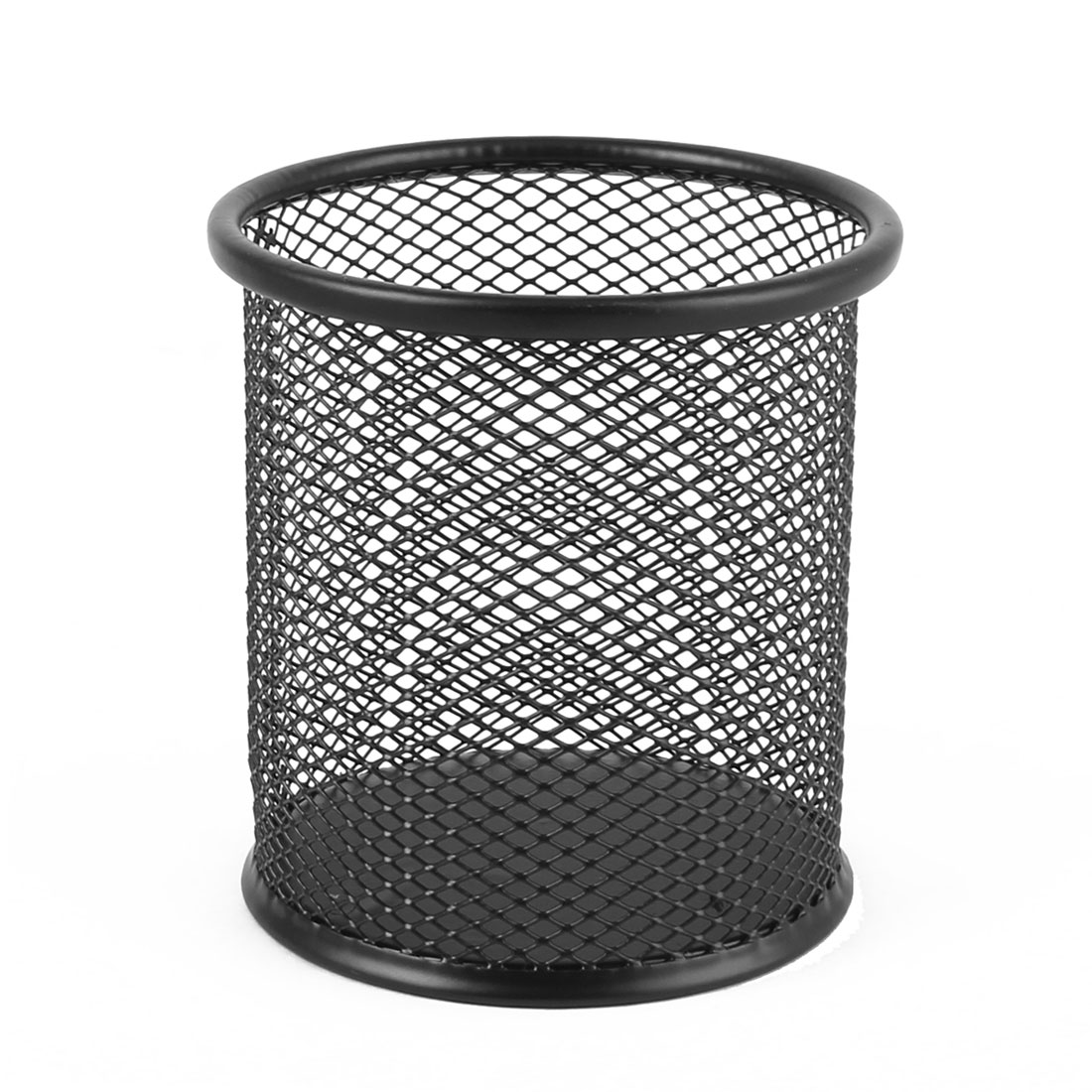Round Black Netty Metal Pen Pencil Case Holder