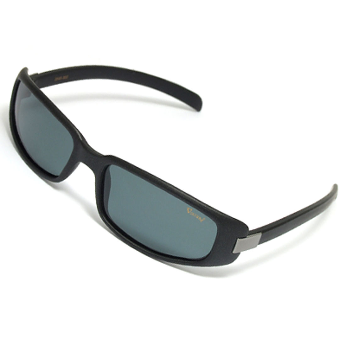 Full-rim Polarized Sports Sunglasses with Black Plastic Frame and Temple