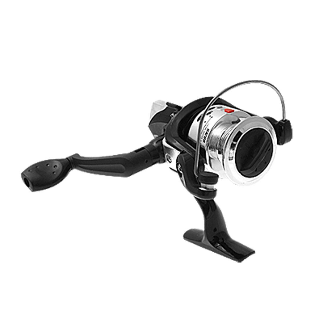 5.2:1 Ratio Black Fishing Spinning Reel Gear Line Roller Spool