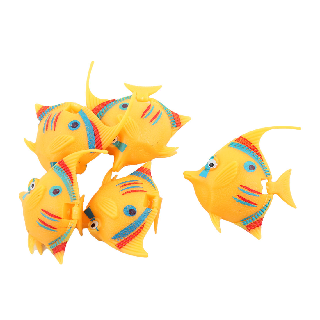Yellow Floating Lively Aquarium Tank Fish Decoration Hobby