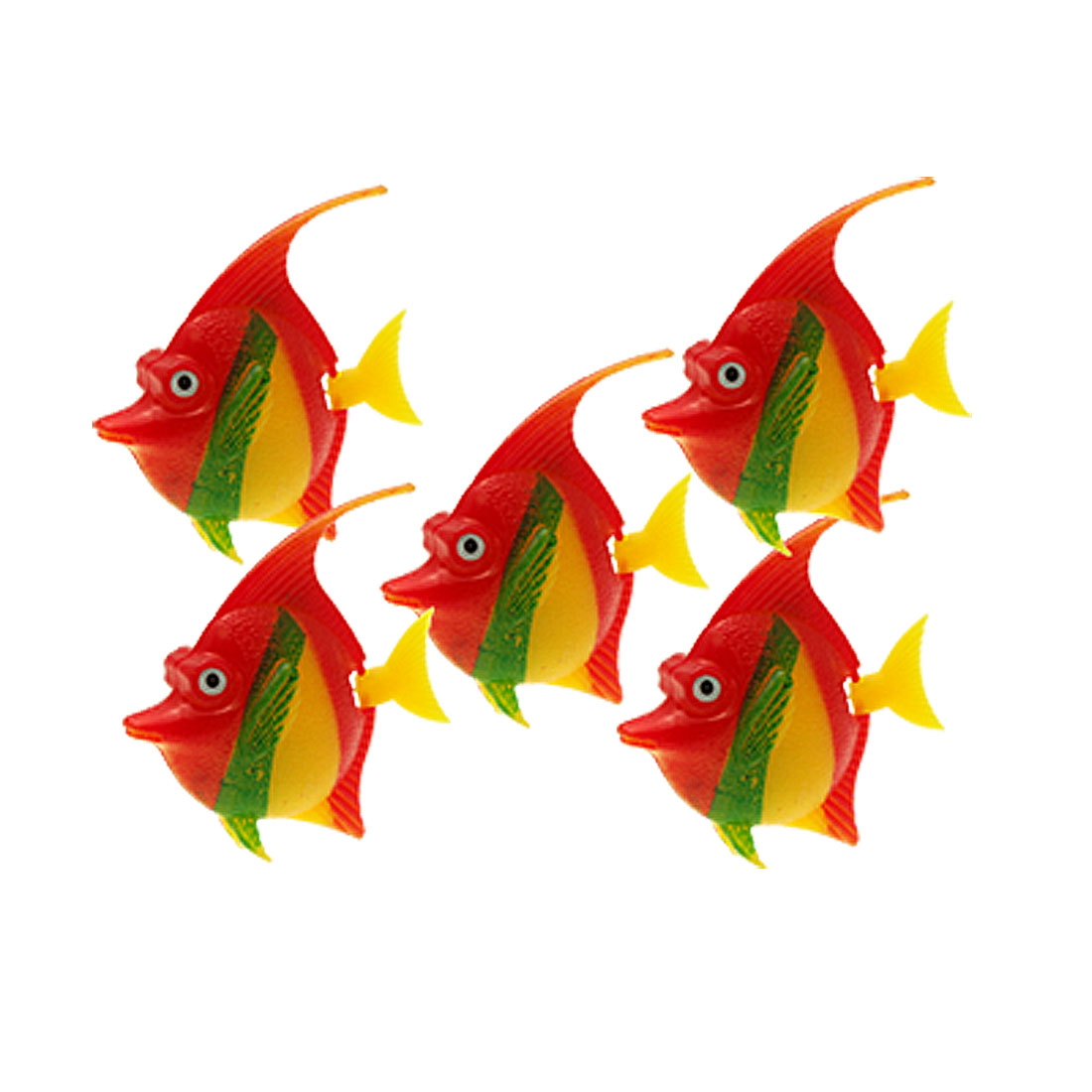 5 pcs Flexible Tail Plastic Fish Aquarium Tank Decoration