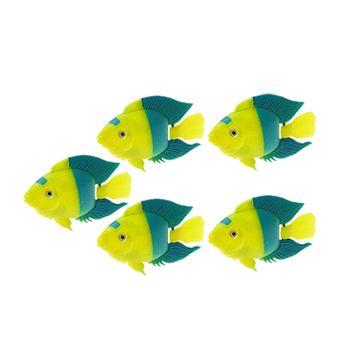 5 Pieces Life-Like Plastic Floating Ornamental Fish Aquarium Ornament