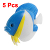 Plastic Life-Like Floating Ornamental Fish Aquarium Ornament 5 Pieces