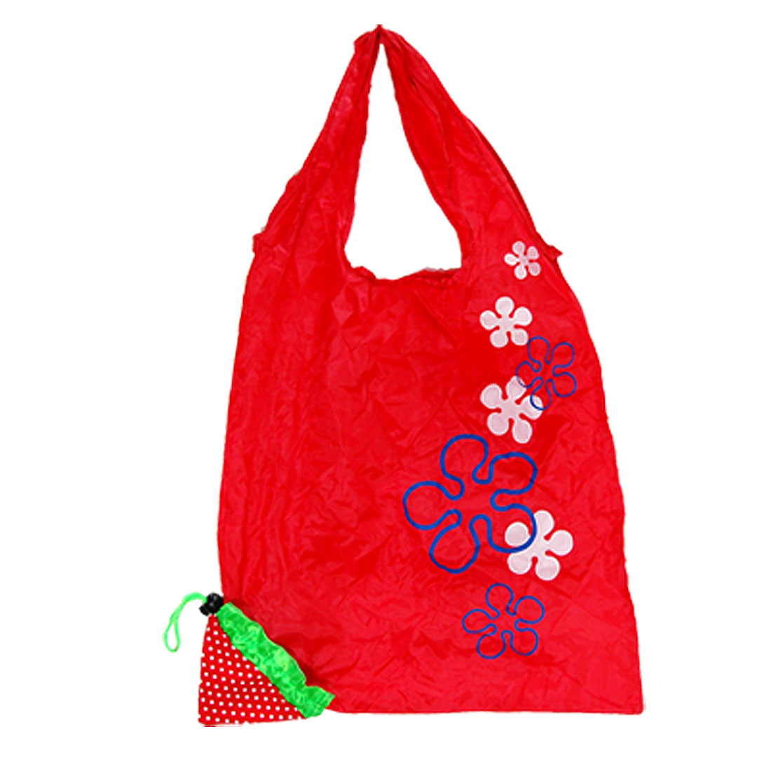 Funny Red Strawberry Reusable Shopping Shoulder Tote Bag