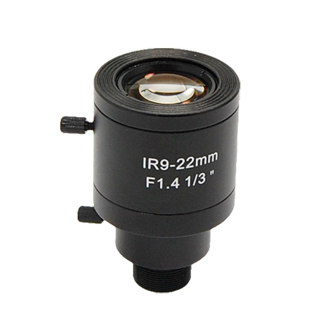 "1/3"" F1.4 Manual CCTV Security Camera Lens 9-22mm"