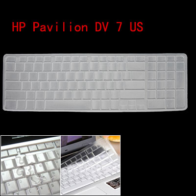Clear Silicone Keyboard Protector Cover Case for HP Pavilion DV 7 US