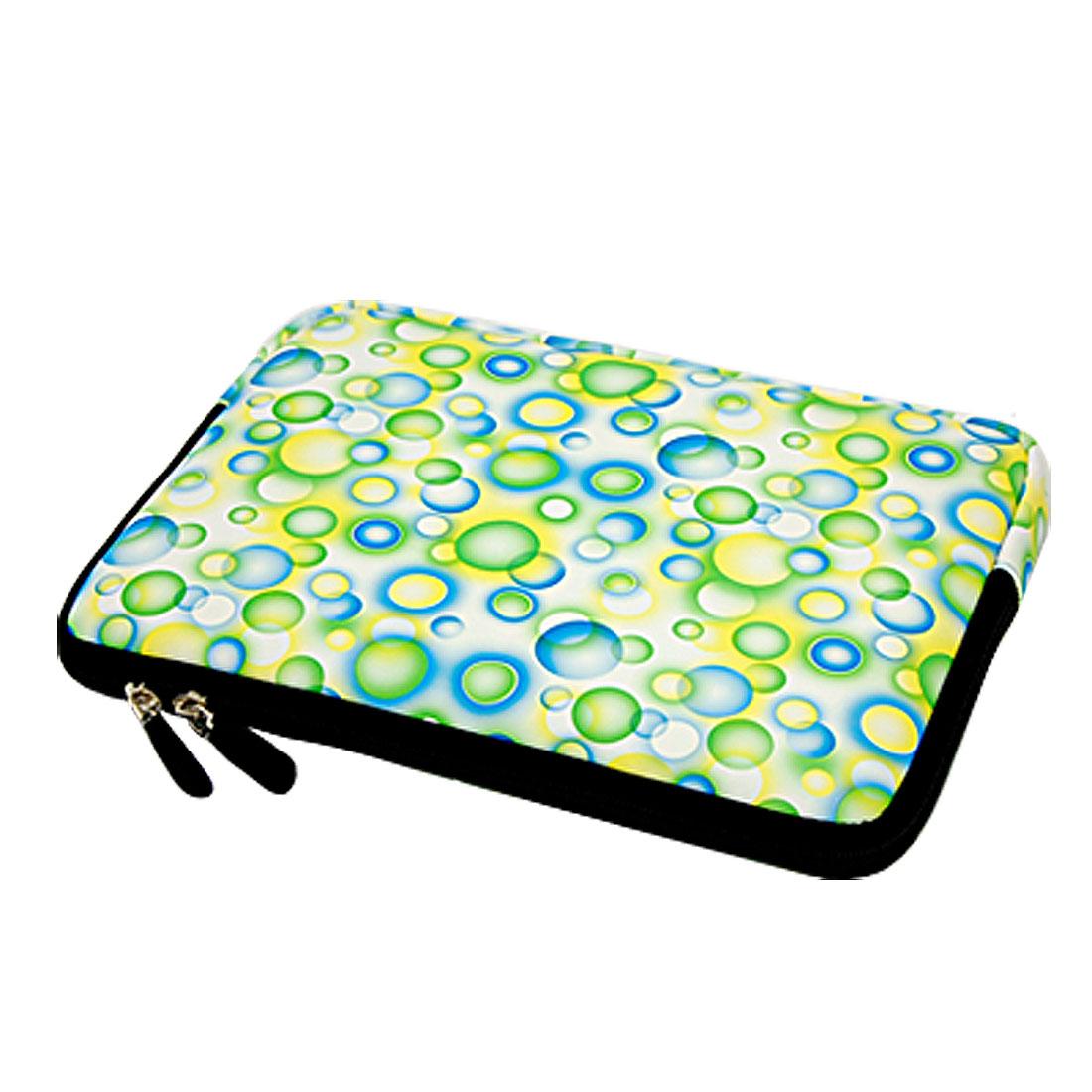 "10"" 10.1"" 10.2"" Green Blue Bubble Pattern Laptop Sleeve Bag Case Pouch"
