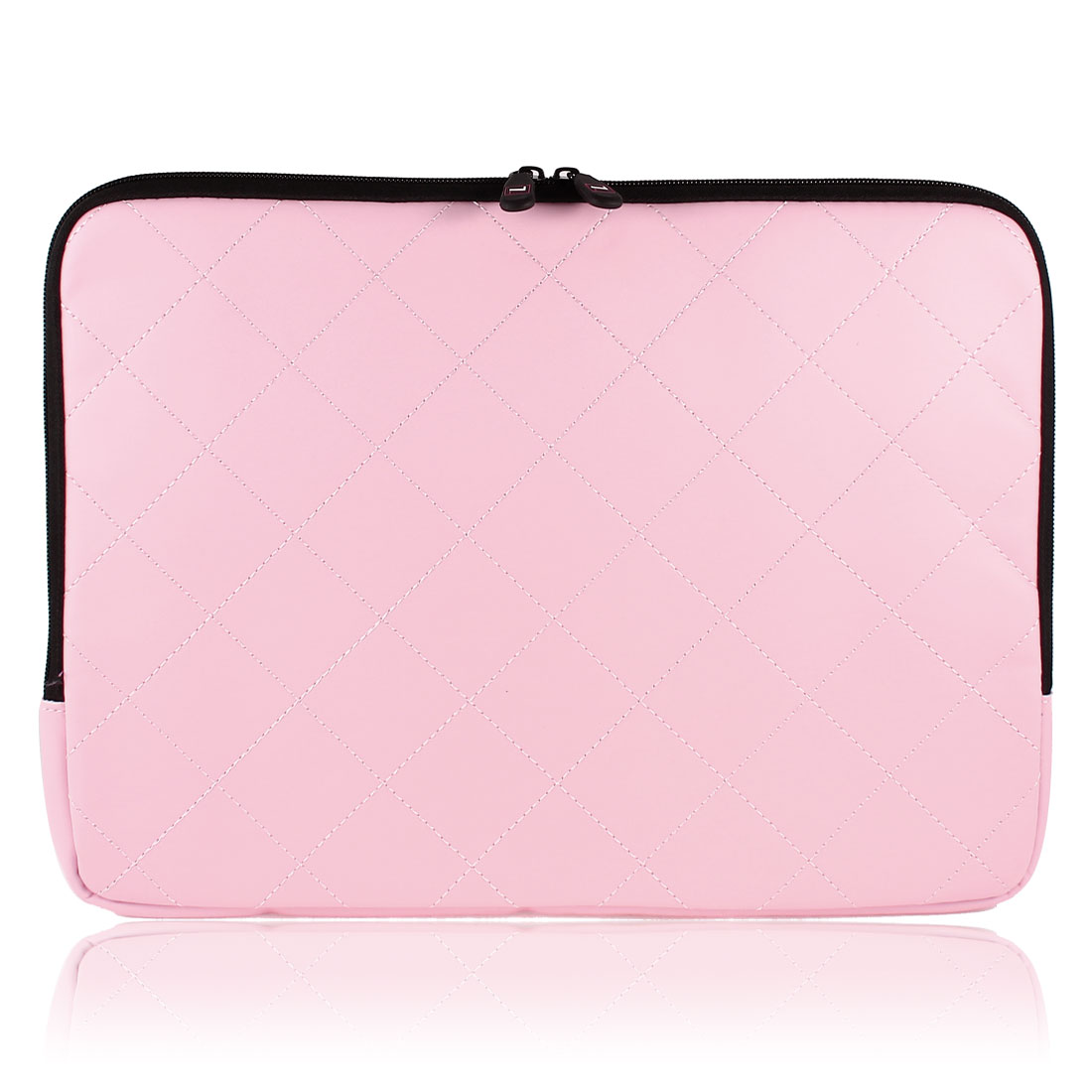 "14"" 14.1"" Pink Faux Leather Notebook Laptop Sleeve Bag Case w Zipper for HP"