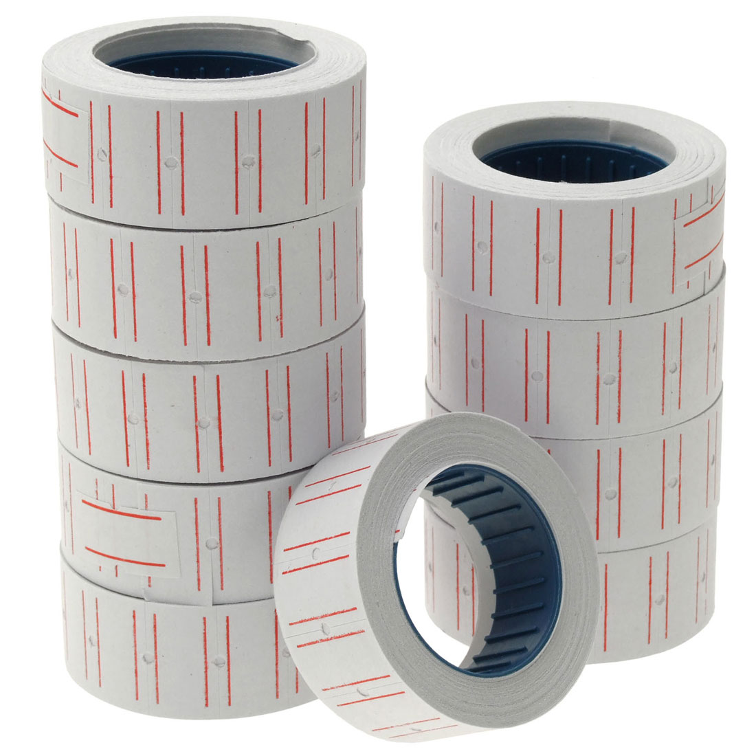 10pcs Self Adhesive Labels Roll Retail Store Price Stickers 21mm x 12mm