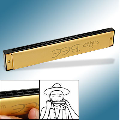 48 Reeds Tone Harmonica Golden Harps for Music Lover