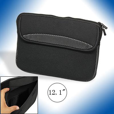 "Neoprene 12.1"" Black Laptop Notebook Sleeve Case Bag"
