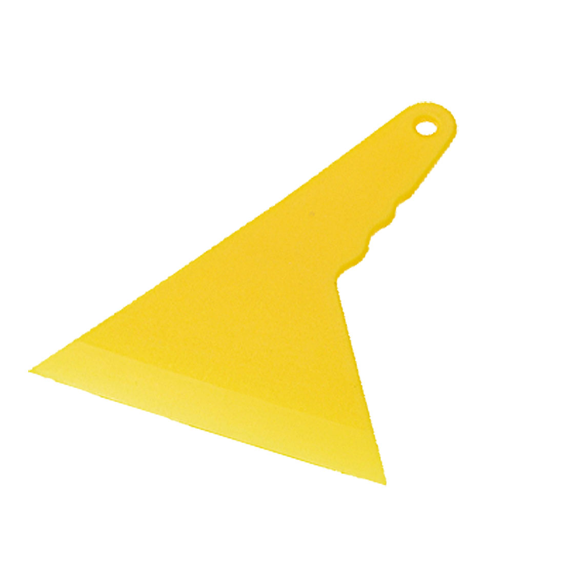 Mini Hard Plastic Window Mirror Pasters Smooth Blade Yellow