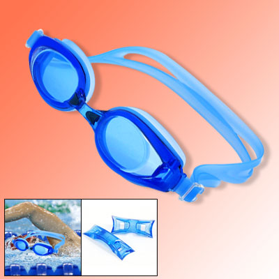 Anti-Fog Adjustable Blue Adults' Swimming Swim Goggles
