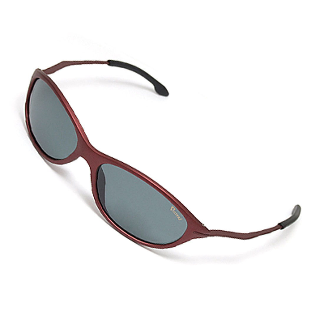 Polished Black Lens Red Frame Ladies' Polarized Sunglasses