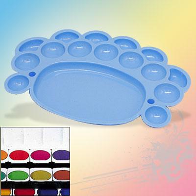 Sky Blue Plastic Watercolor Paint Color Box Dish