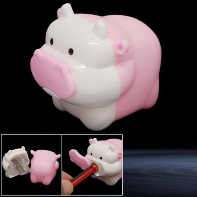 Pink Mini Cartoon Milk Cow Manual Pencil Sharpener