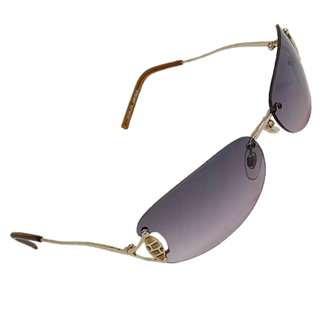 Rimless Stylish Ladies' Metal Arms Eyewear Sunglasses
