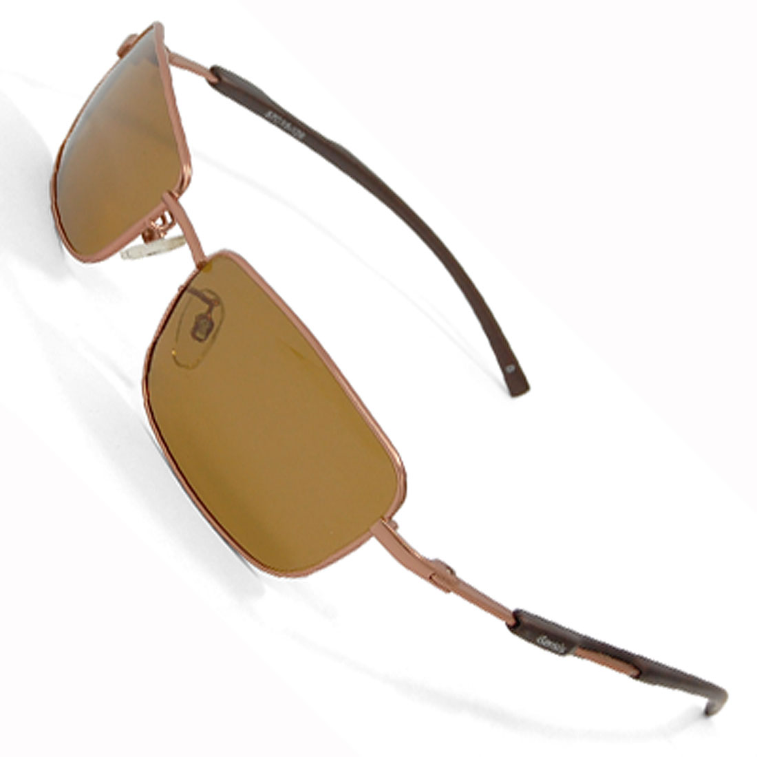 Brown Metal Boating Polarized Sunglasses for Man