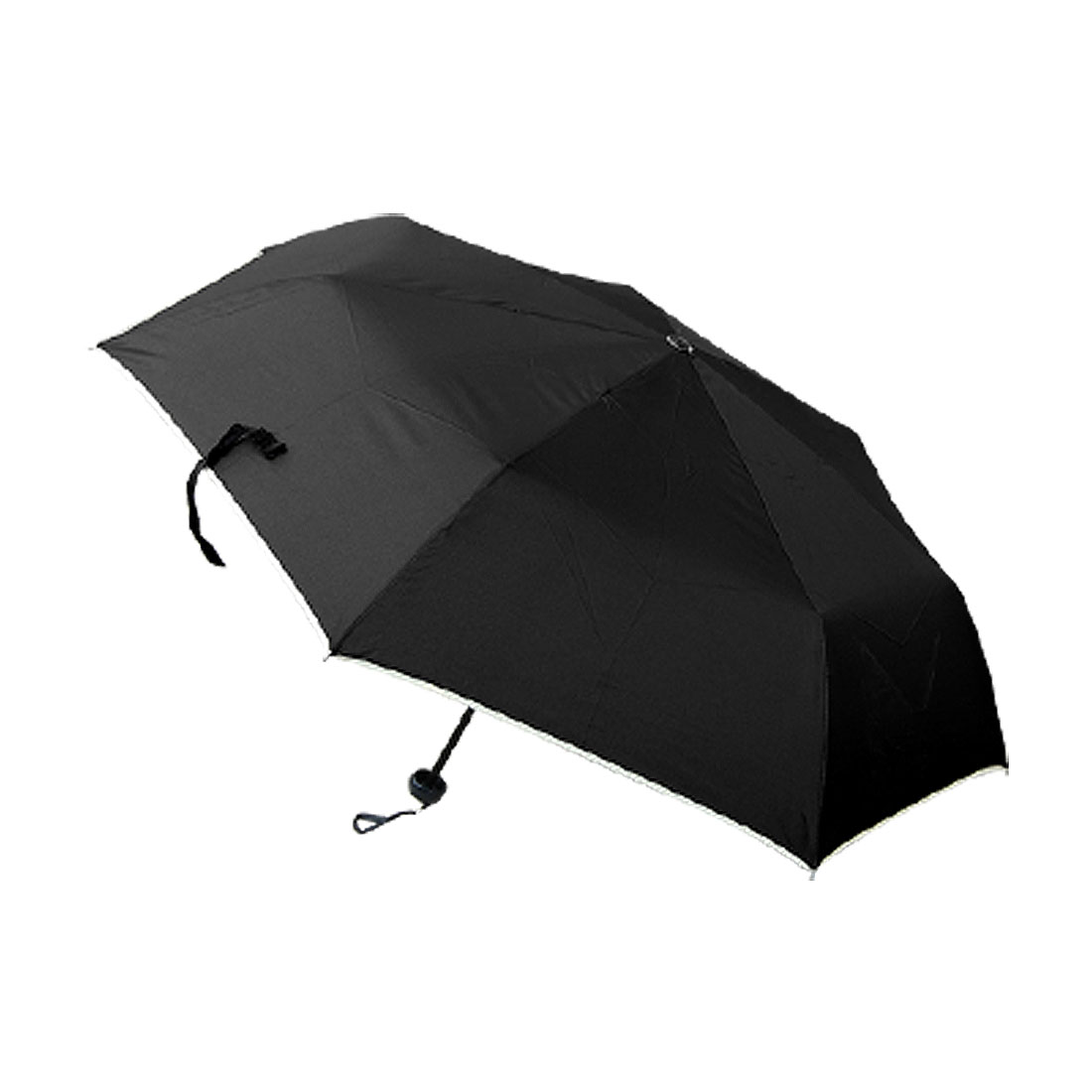 Cool Black Canopy Men's Folding Rain Brolly Umbrella