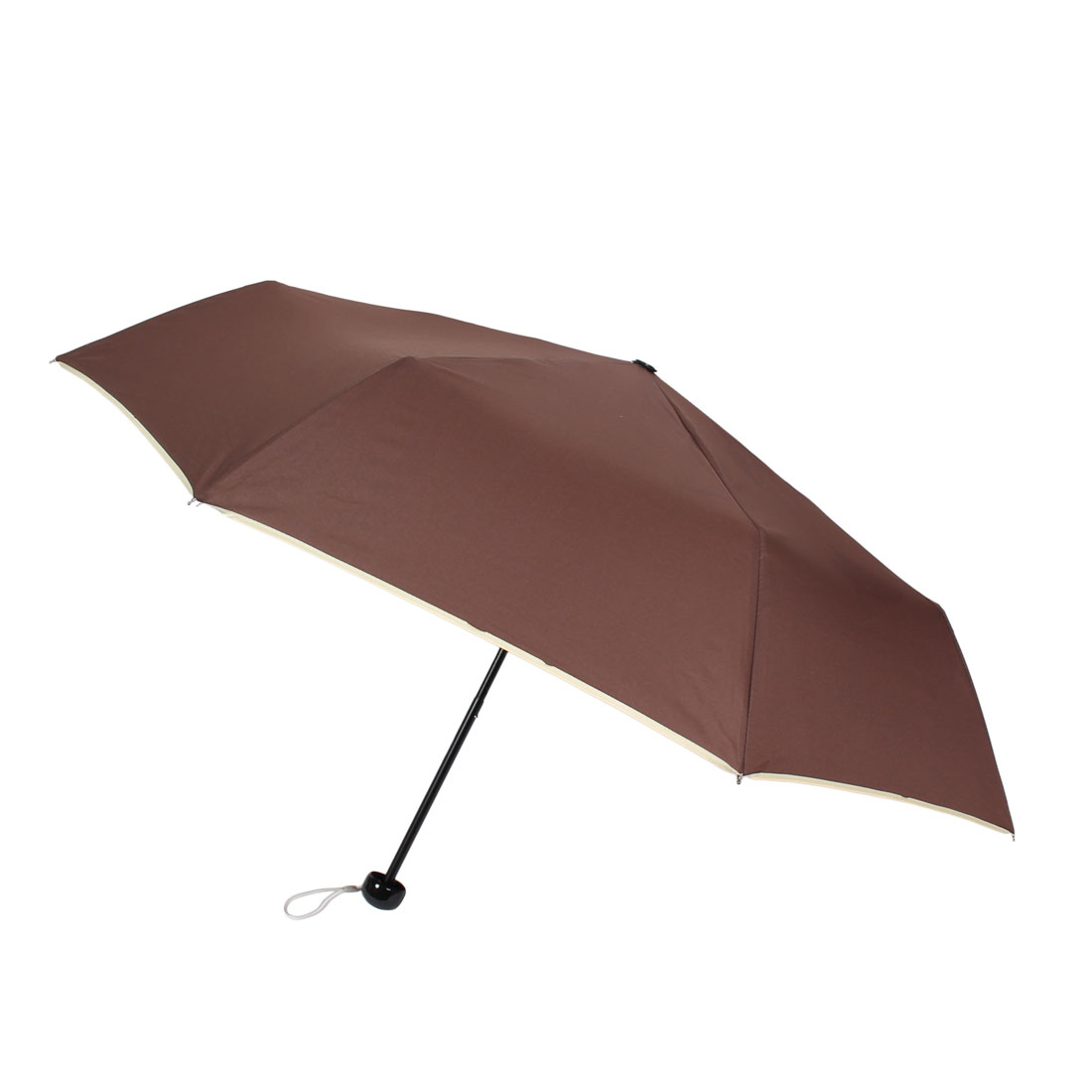 Brown Canopy Umbrella Men's Rain Handy Foldable Brolly