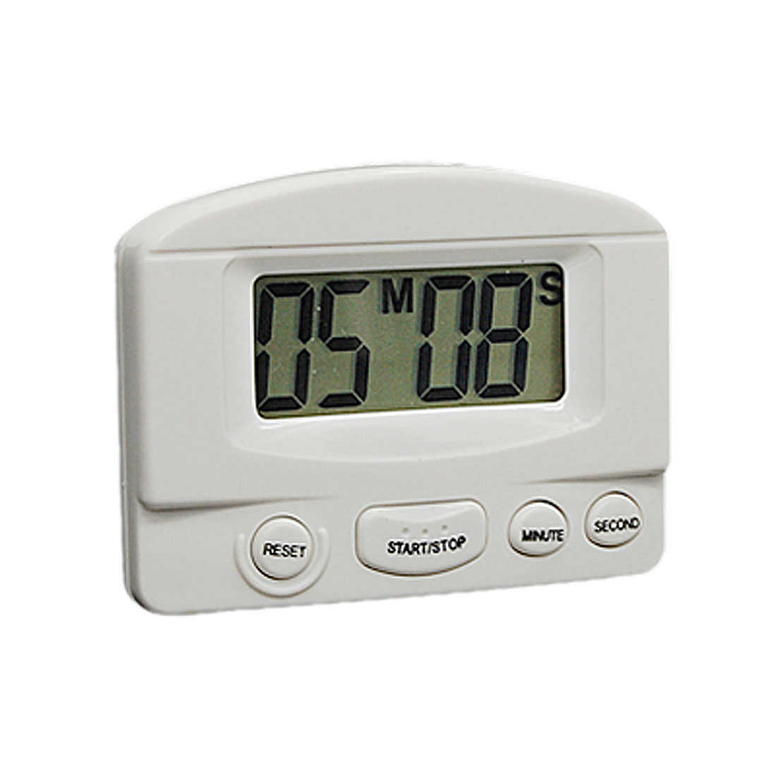 White Handy LCD Digital Kitchen Count Up Down Alarm Timer