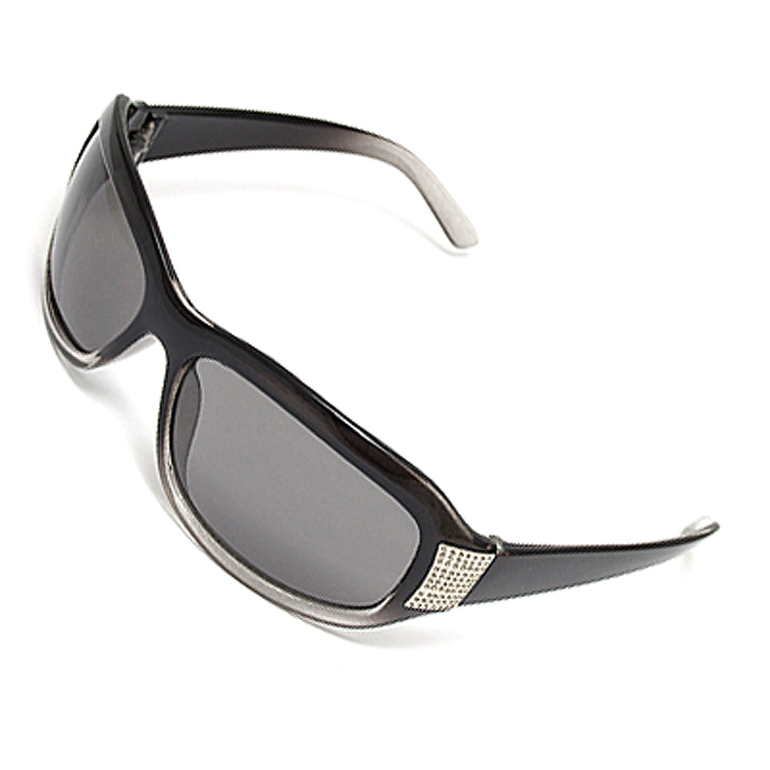 Silvery Clear Black Plastic Women's Surfing Sunglasses