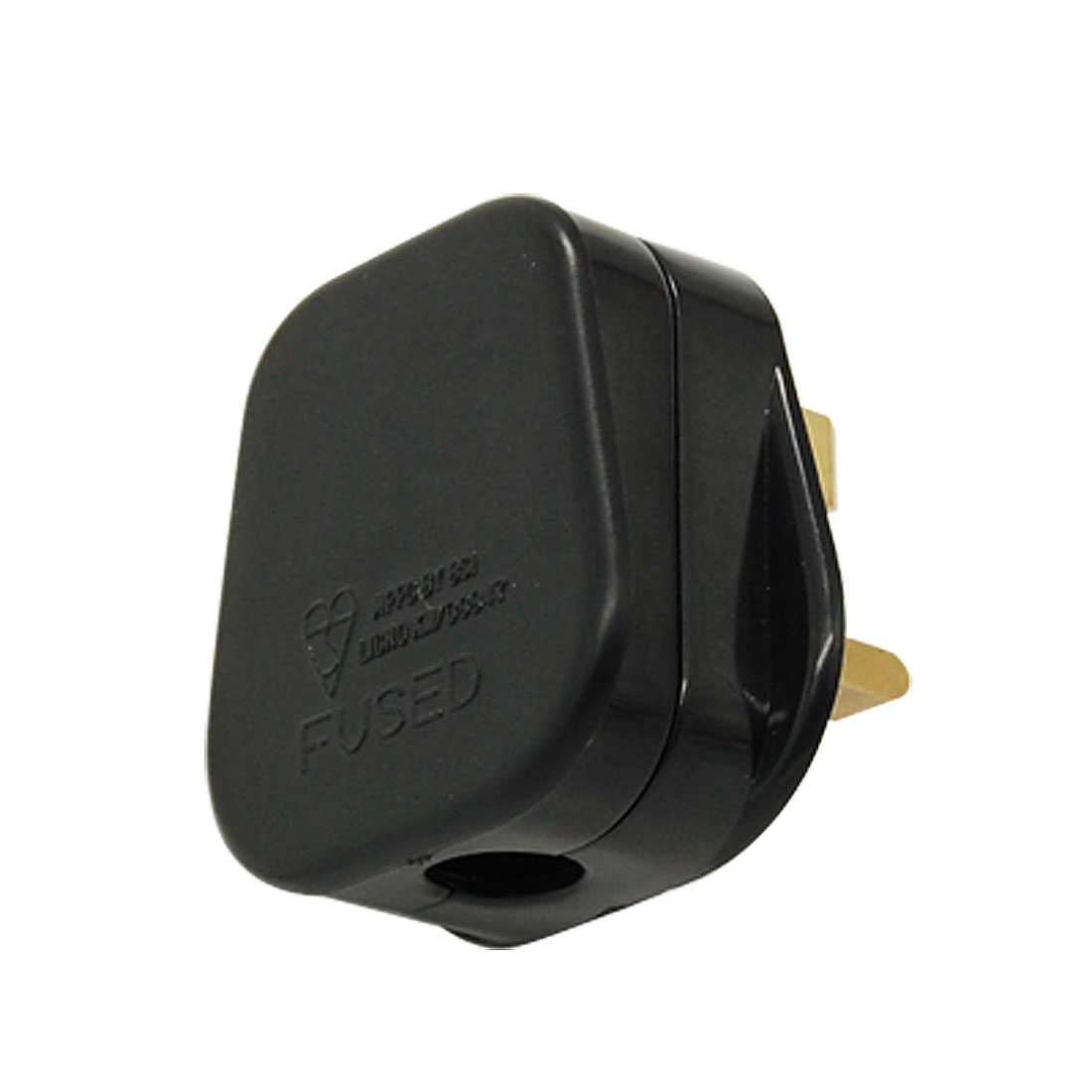 Black Plastic Housing Power Adapter Connector AC 250V UK Plug