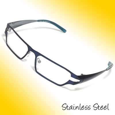 Stainless Steel Unisex Full Rim Spectacle Eyeglasses Frame