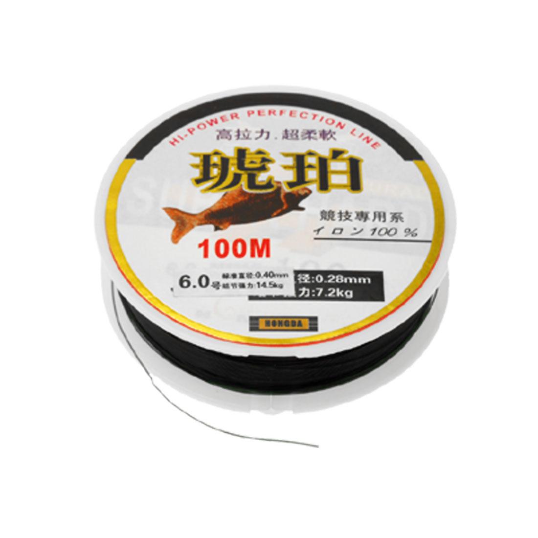 Black 100M Fishing Line Size 0.40mm 14.5Kg