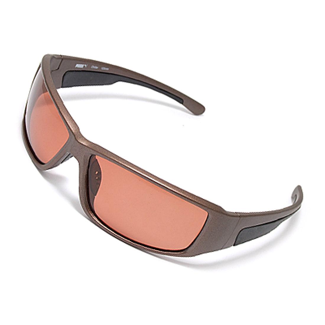 Rectangular Lens Plastic Frame Polarized Eyewear Glasses for Men