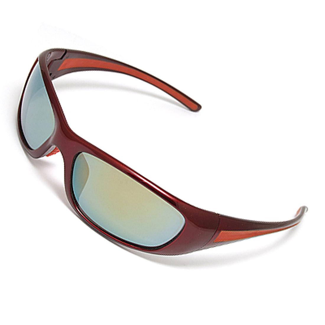 Carmine Plastic Full-rim Color Coated Lens Ladies' Sunglasses
