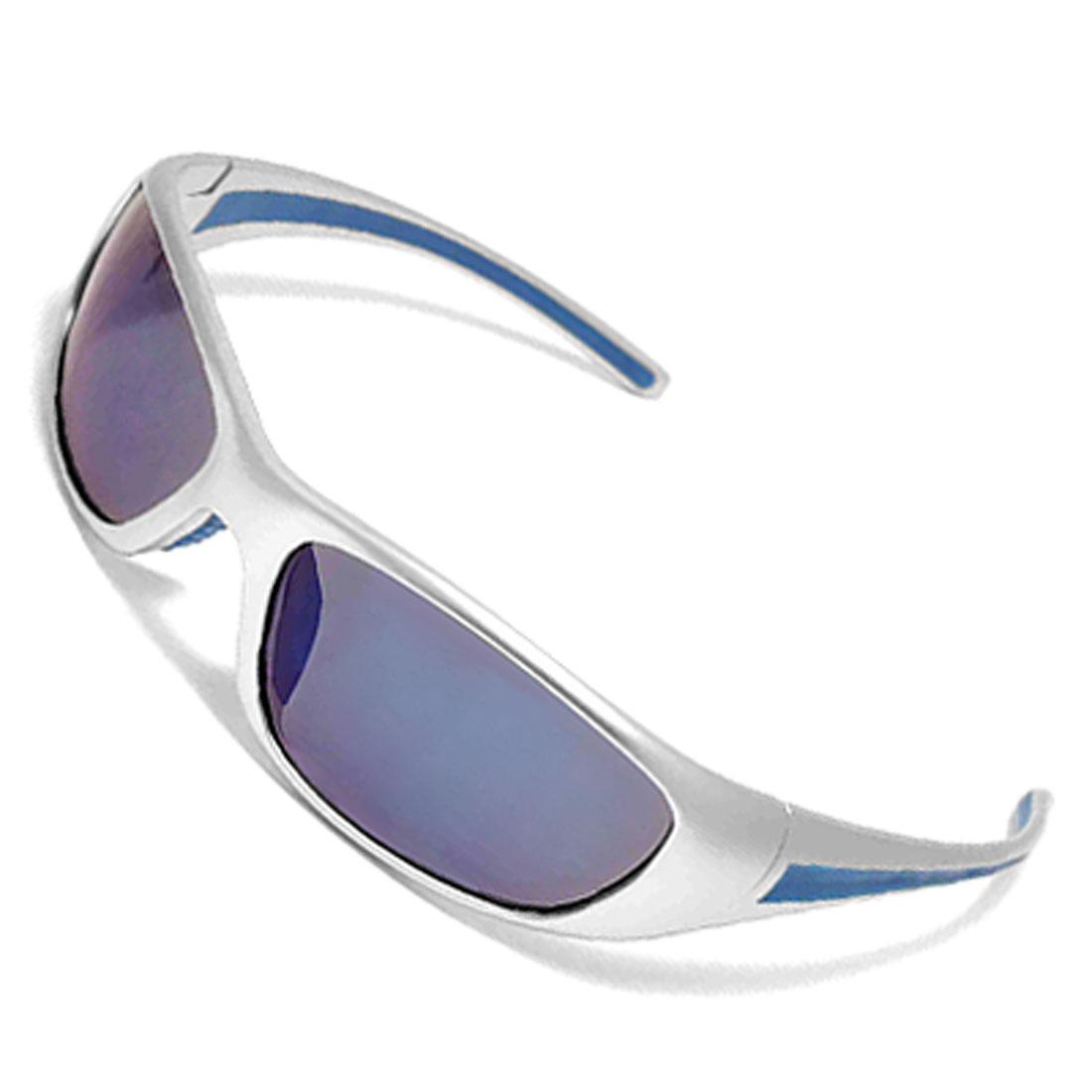 Trendy Ladies' Silvery Plastic Eyewear Full-rim Sunglasses