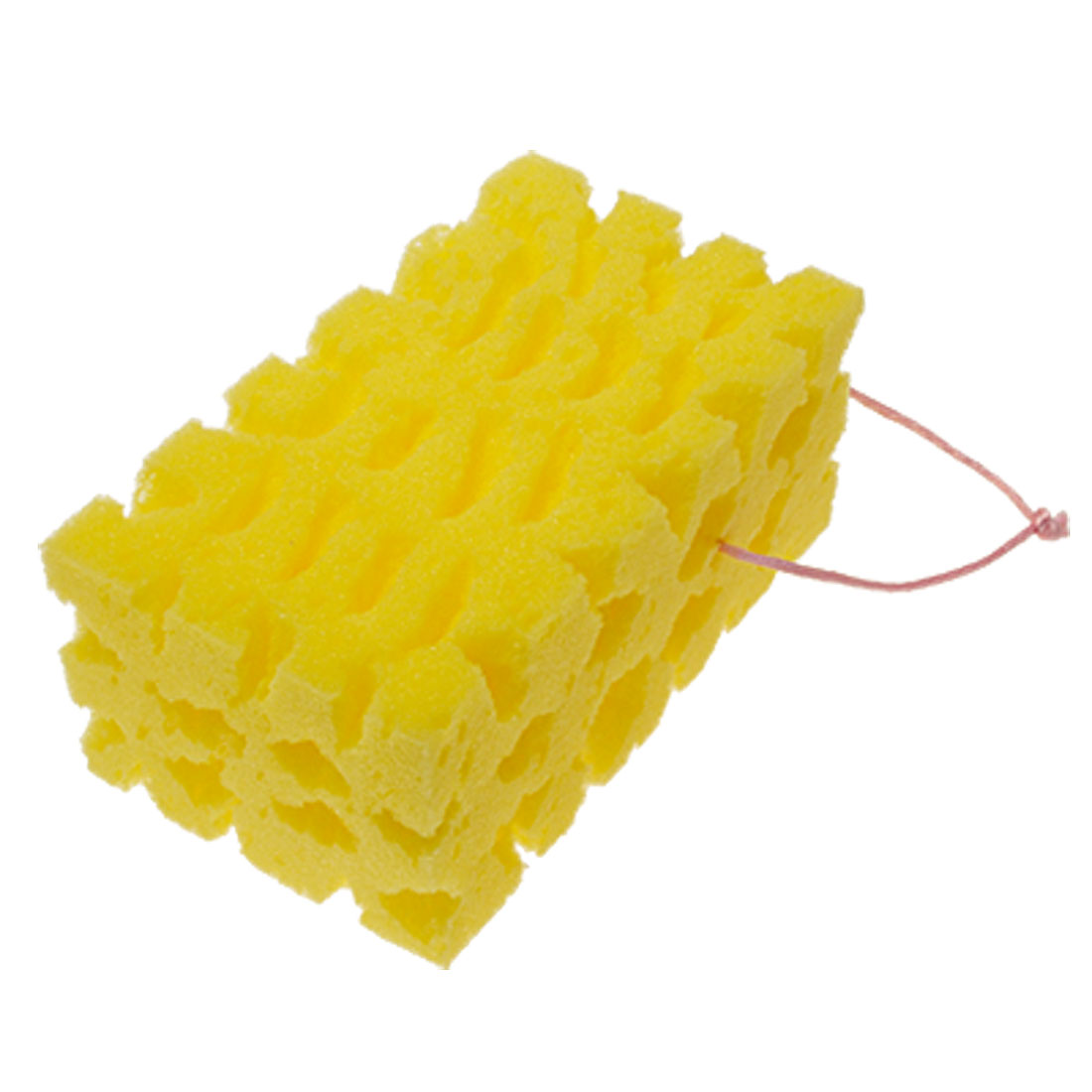 Yellow Car Washing Cleaning Sponge Block w. Hand Strap