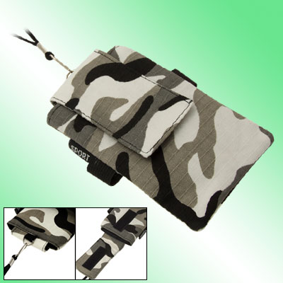 Camouflage Phone Wrist Bag w. Neck String for Phone MP4