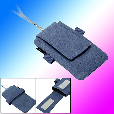 Fabric Travel Mobilephone Bag Case w. Elastic Wrist Strap