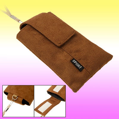 Brown Carrying Stylish Flannel Sport Mobile Case Bag