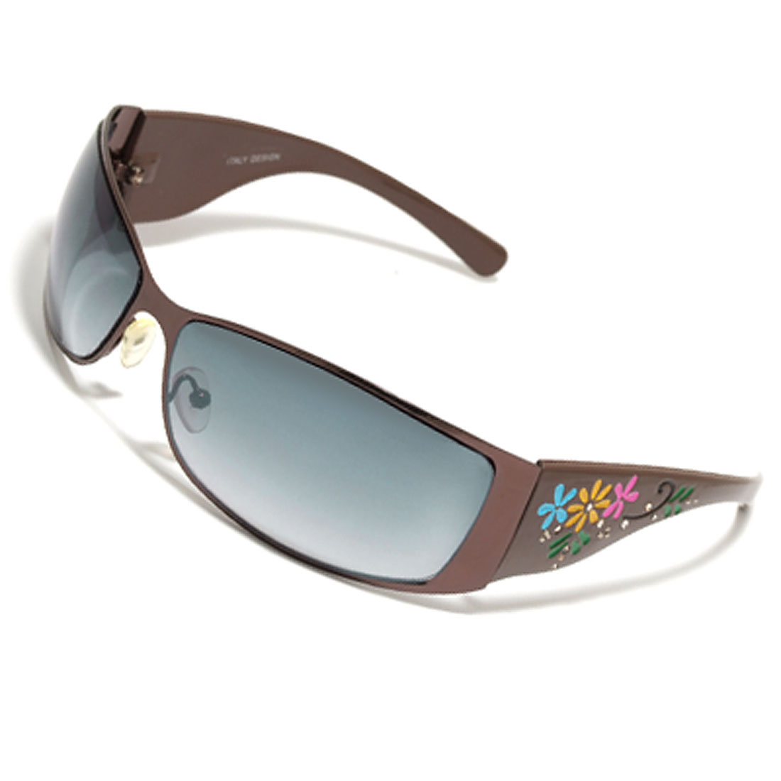 Flower Decorate Arms Fashion Ladies' Eyewear Sunglasses