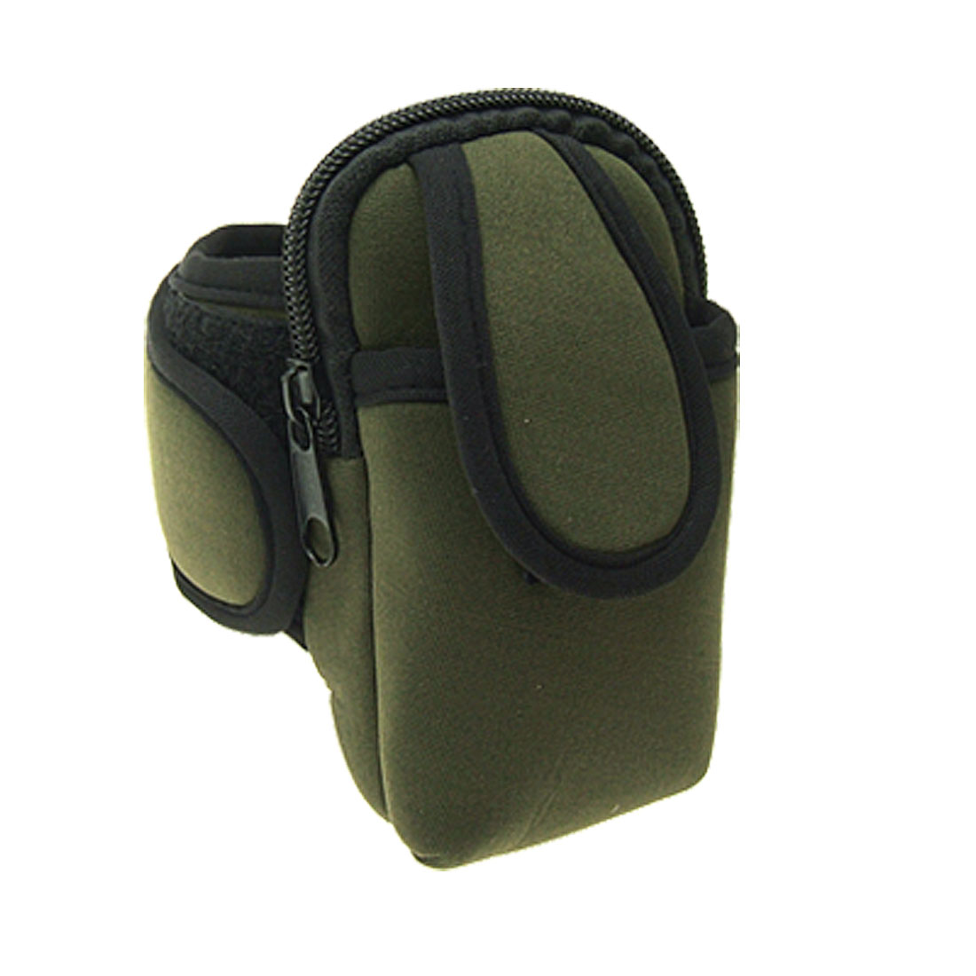 Neoprene Double Pocket Mobile Pouch Arm Bag with Hook and Loop Fastener Strap