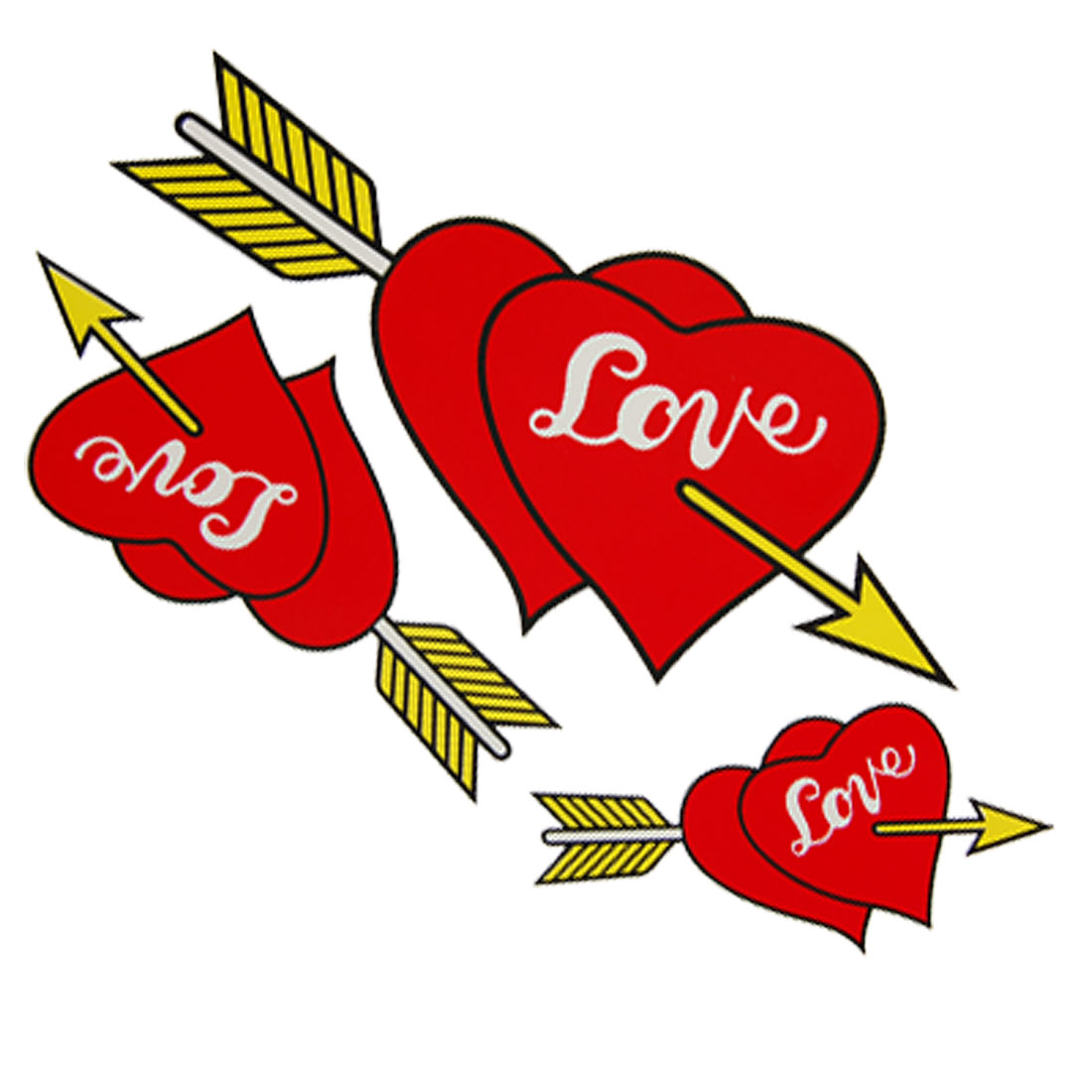Red Arrow Heart Love Car Decor Logo Badge Sticker