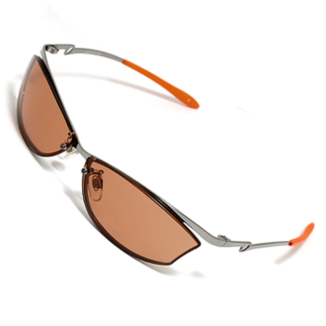 Brown Lens Metal Frame Unisex Sports Eyewear Sunglasses