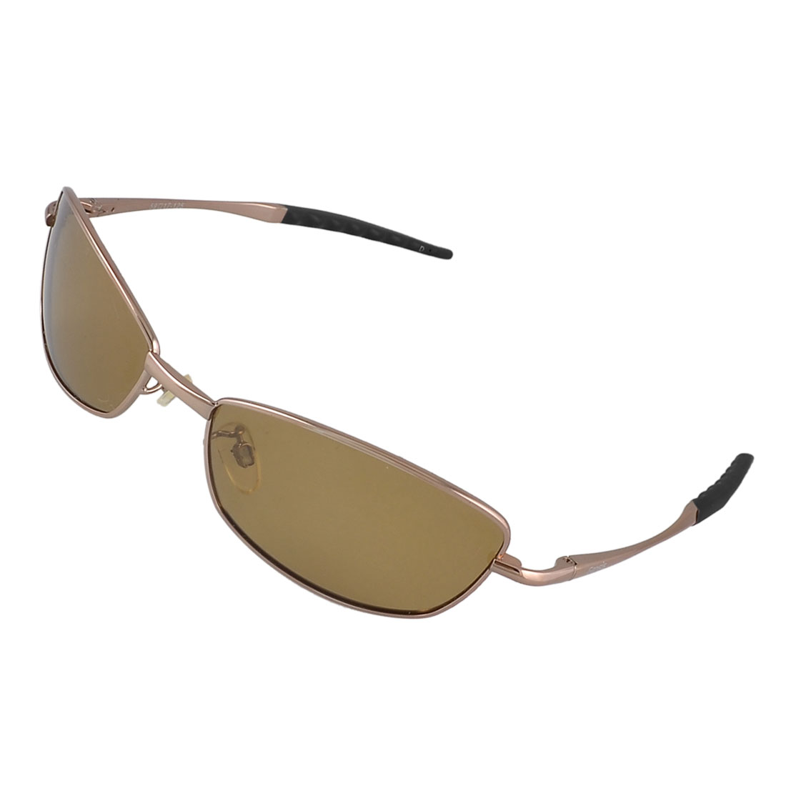 Rectangle Full Rim Tea Colour Lens Stylish Polarized Sunglasses