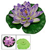 Purple Floating Lotus Decoration for Aquarium Garden Pond