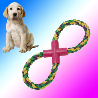 8 PatternsDog Trainning Braided Rope Toy Chew Fun