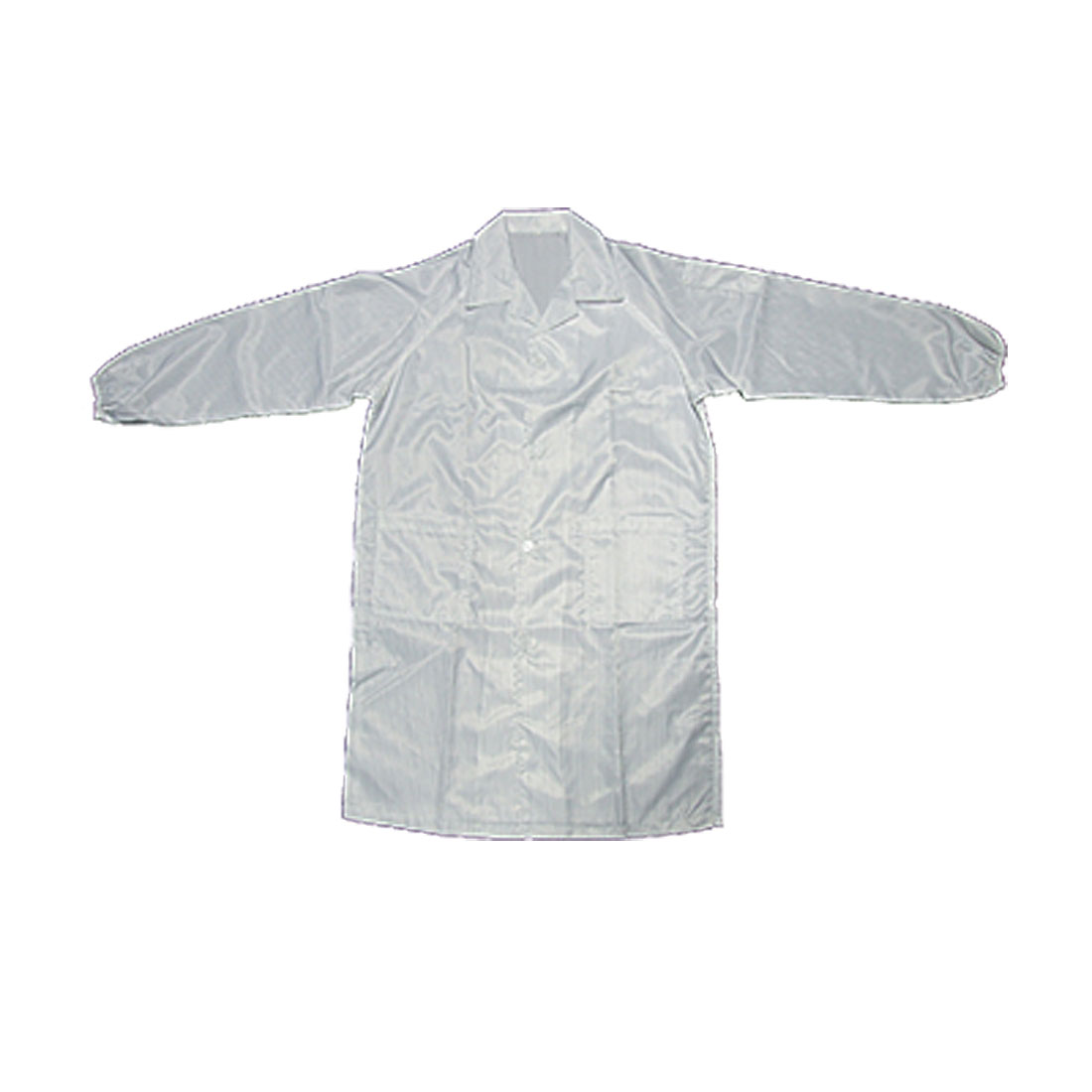 White Anti-static Cloth Unisex Size L LAB Coat Smock