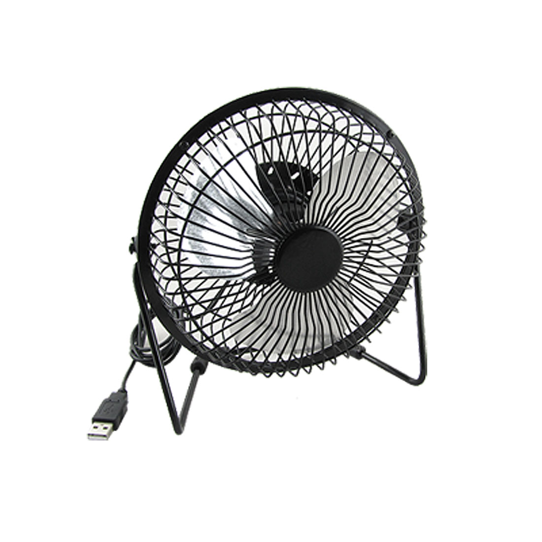 Black Mini Solid Metal Cage USB Powered Cooling Cooler Fan