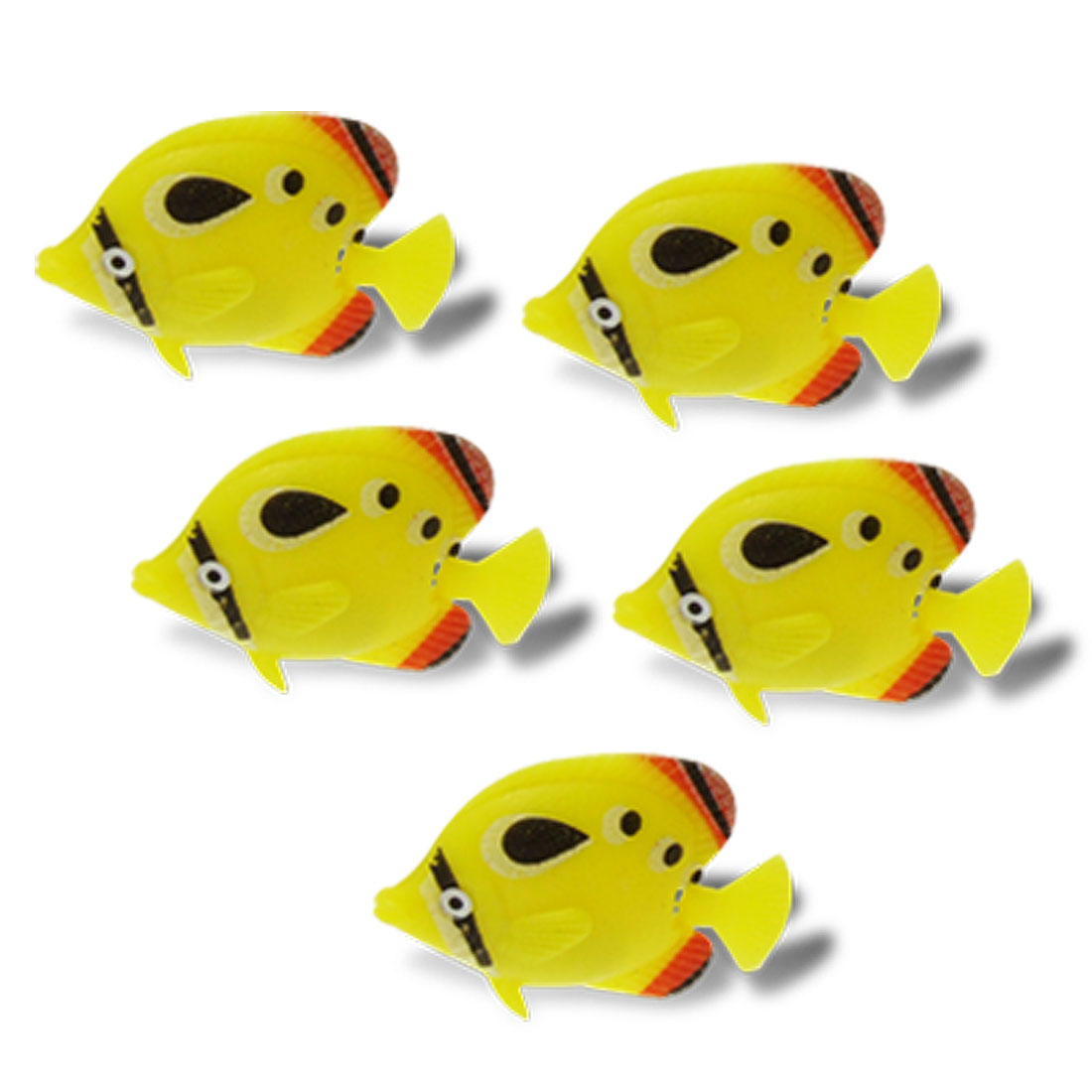 Fish Tank Fashion Aquarium Ornament Yellow Plastic Fish